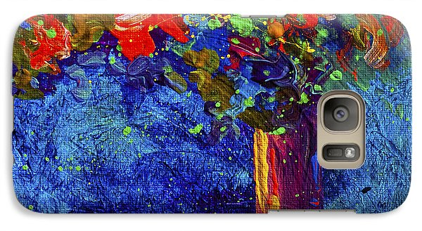 Daisy Galaxy S7 Case - Abstract Floral 2 by Marion Rose