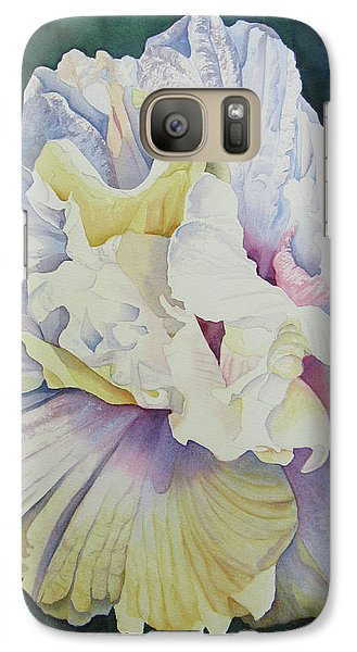 Galaxy Case featuring the painting Abstract Floral by Teresa Beyer