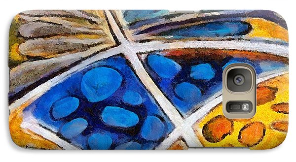 Galaxy Case featuring the painting Abstract Flower by Dragica  Micki Fortuna