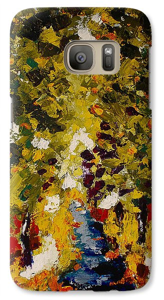 Galaxy Case featuring the painting Abstract Forest #1 by Zeke Nord