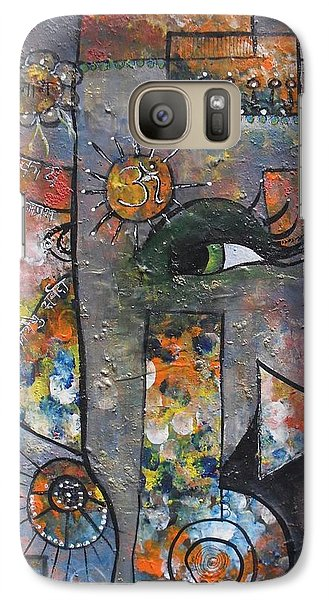 Galaxy Case featuring the painting Abstract Ganesha  by Prerna Poojara