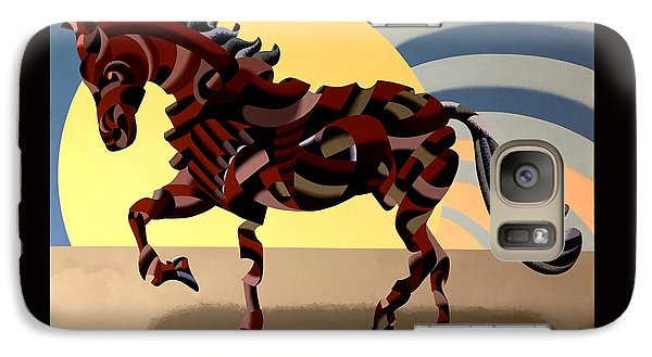 Galaxy Case featuring the painting Abstract Geometric Futurist Horse by Mark Webster