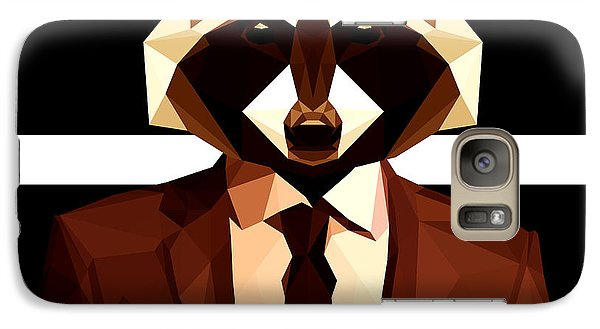 Abstract Geometric Raccoon Galaxy S7 Case