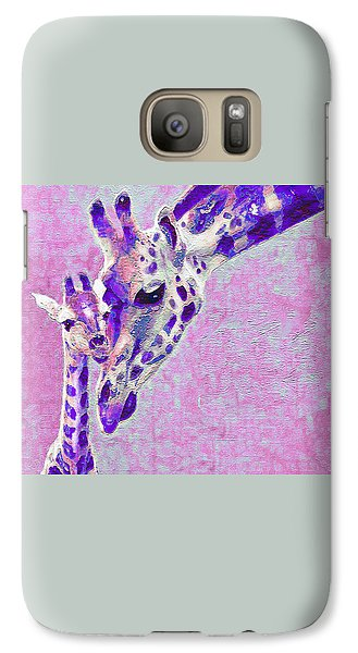 Galaxy Case featuring the digital art Abstract Giraffes2 by Jane Schnetlage