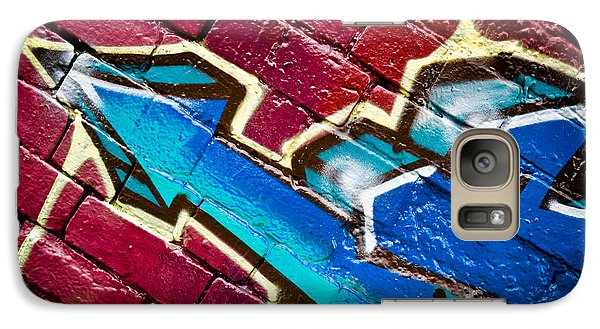 Galaxy Case featuring the painting Abstract Graffiti Arrow by Yurix Sardinelly