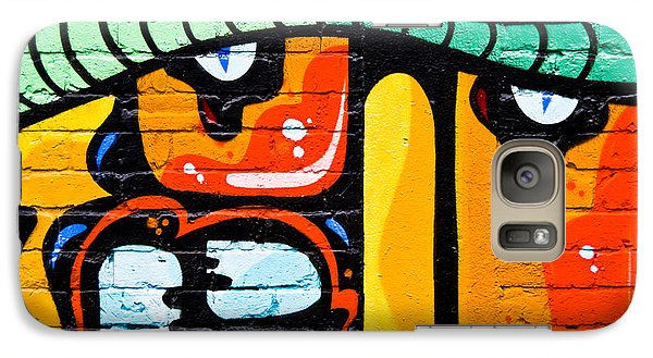 Galaxy Case featuring the painting Abstract Graffiti Face by Yurix Sardinelly