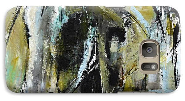 Galaxy Case featuring the painting Abstract Green Horse by Cher Devereaux