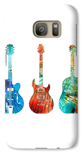 Abstract Guitars By Sharon Cummings Galaxy S7 Case by Sharon Cummings