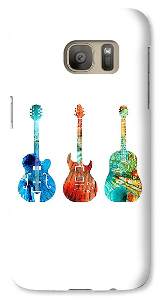 Music Galaxy S7 Case - Abstract Guitars By Sharon Cummings by Sharon Cummings