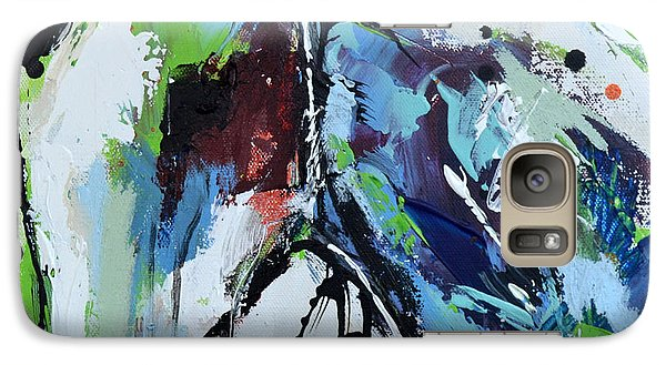 Galaxy Case featuring the painting Abstract Horse 18 by Cher Devereaux