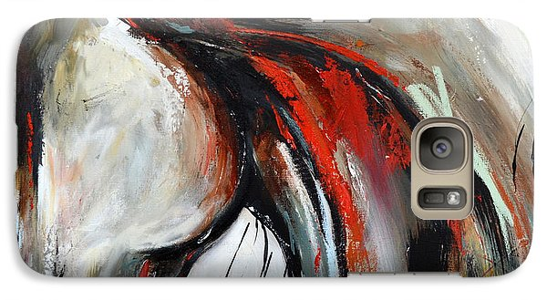 Galaxy Case featuring the painting Abstract Horse 21 by Cher Devereaux