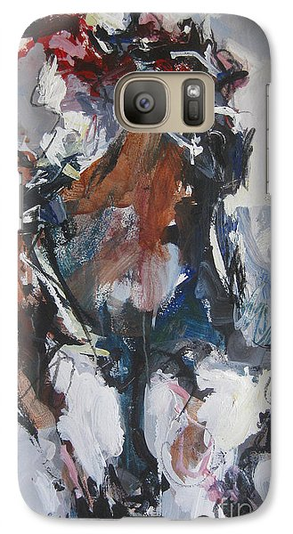 Galaxy Case featuring the painting Abstract Horse Racing Painting by Robert Joyner