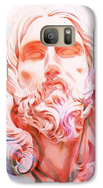Galaxy Case featuring the painting Abstract Jesus 1 by J- J- Espinoza