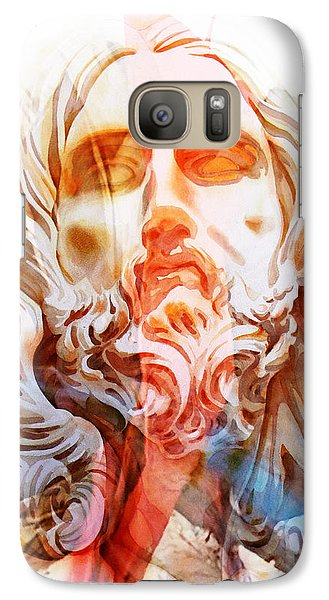Galaxy Case featuring the painting Abstract Jesus 2 by J- J- Espinoza