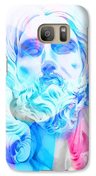 Galaxy Case featuring the painting Abstract Jesus 3 by J- J- Espinoza