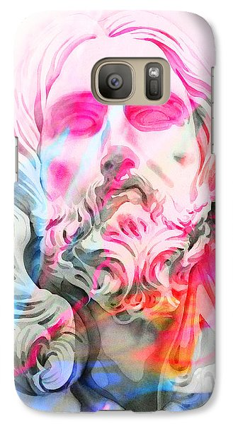 Galaxy Case featuring the painting Abstract Jesus 4 by J- J- Espinoza