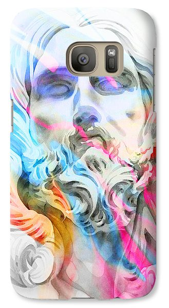 Galaxy Case featuring the painting Abstract Jesus 5 by J- J- Espinoza