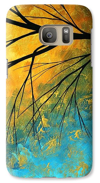 Abstract Galaxy S7 Case - Abstract Landscape Art Passing Beauty 2 Of 5 by Megan Duncanson