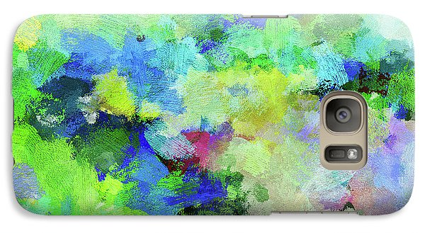 Galaxy Case featuring the painting Abstract Landscape Painting by Ayse Deniz