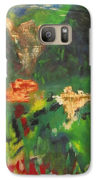 Galaxy Case featuring the painting Abstract Landscape by Patricia Cleasby