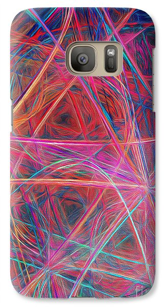 Galaxy Case featuring the digital art Abstract Light Show by Andee Design