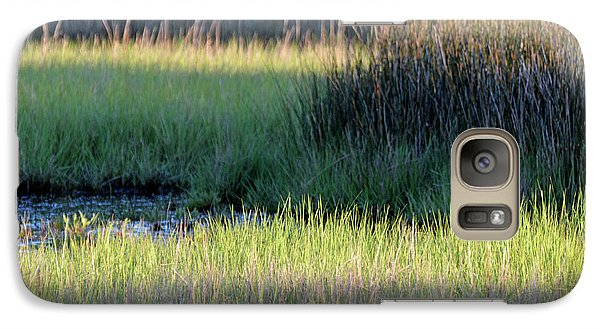Galaxy Case featuring the photograph Abstract Marsh Grasses by Bruce Gourley
