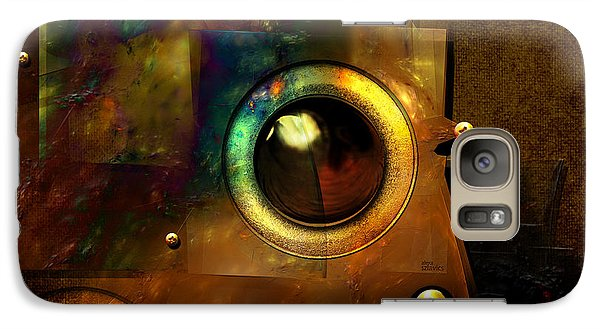 Galaxy Case featuring the digital art Abstract Metal Plates by Alexa Szlavics