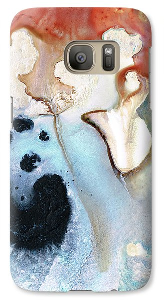 Galaxy Case featuring the painting Abstract Modern Art - The Vessel - Sharon Cummings by Sharon Cummings