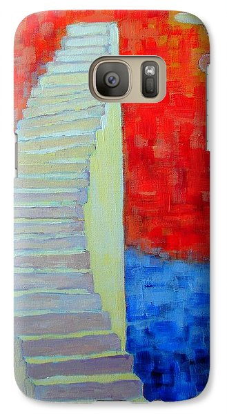 Galaxy Case featuring the painting Abstract Moon by Ana Maria Edulescu