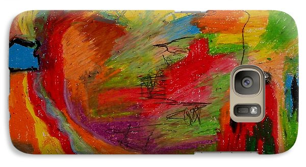 Galaxy Case featuring the drawing Abstract No. 3 Inner Landscape by Maria  Disley
