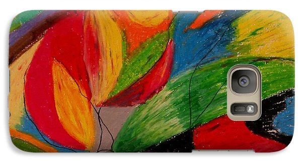 Galaxy Case featuring the drawing Abstract No. 5 Springtime by Maria  Disley