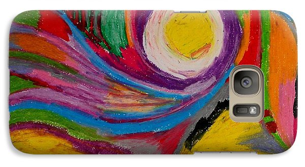 Galaxy Case featuring the drawing Abstract No.6 Innerlandscape by Maria  Disley