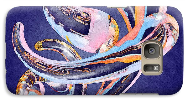 Galaxy Case featuring the painting Abstract Number 11 by Peter J Sucy