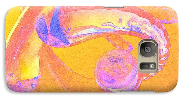 Galaxy Case featuring the painting Abstract Number 2 by Peter J Sucy