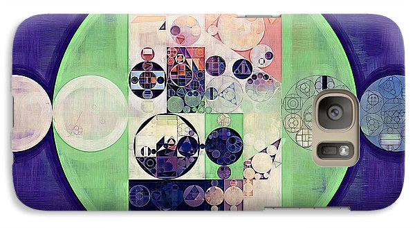 Galaxy Case featuring the digital art Abstract Painting - Blanc by Vitaliy Gladkiy