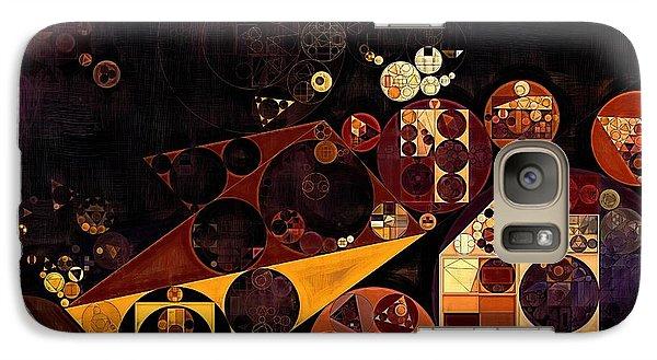 Galaxy Case featuring the digital art Abstract Painting - Fire Bush by Vitaliy Gladkiy