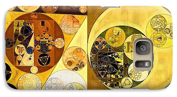 Galaxy Case featuring the digital art Abstract Painting - Golden Brown by Vitaliy Gladkiy