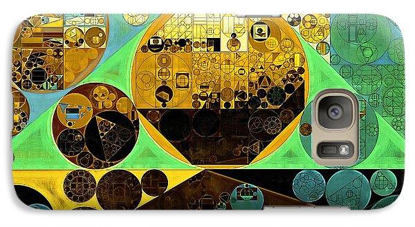 Galaxy Case featuring the digital art Abstract Painting - Ocean Green by Vitaliy Gladkiy