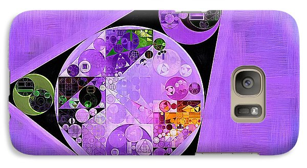 Galaxy Case featuring the digital art Abstract Painting - Slate Blue by Vitaliy Gladkiy