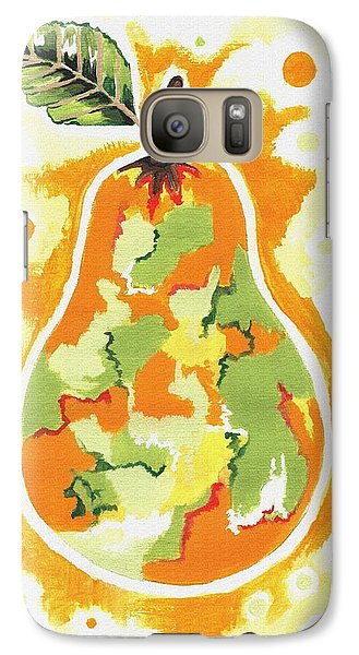 Galaxy Case featuring the painting Abstract Pear by Kathleen Sartoris