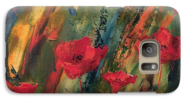 Galaxy Case featuring the painting Abstract Poppies by Kristine Bogdanovich