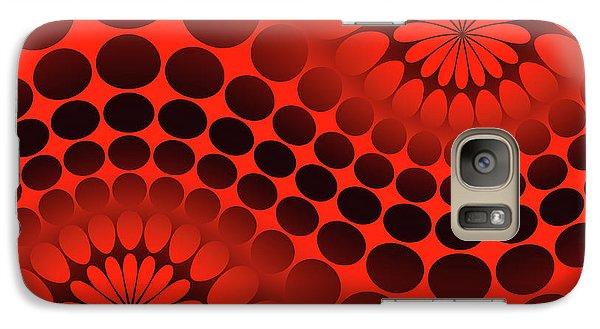 Galaxy S7 Case - Abstract Red And Black Ornament by Vladimir Sergeev