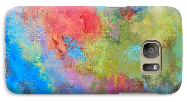Galaxy Case featuring the painting Abstract by Reina Resto