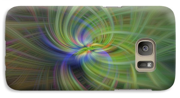 Galaxy Case featuring the photograph Abstract Robin Eating Crabapples by Skip Tribby