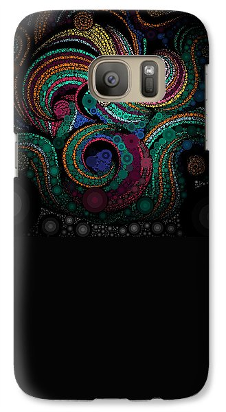 Galaxy Case featuring the pastel Abstract by Sheila Mcdonald