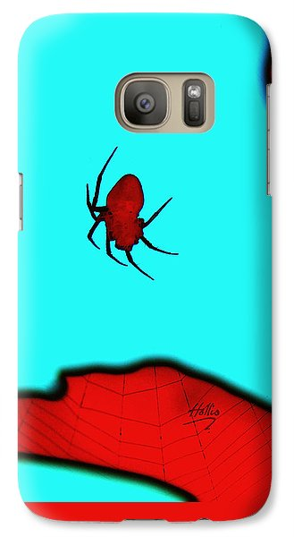 Galaxy Case featuring the photograph Abstract Spider by Linda Hollis