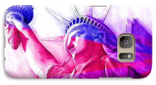 Galaxy Case featuring the painting Abstract Statue Of Liberty 7 by J- J- Espinoza