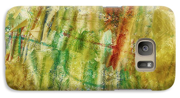 Galaxy Case featuring the digital art Abstract Sunday by Deborah Benoit