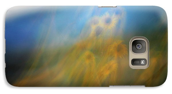 Galaxy Case featuring the photograph Abstract Sunflowers by Marilyn Hunt
