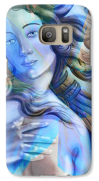 Galaxy Case featuring the painting Abstract Venus Birth 4 by J- J- Espinoza